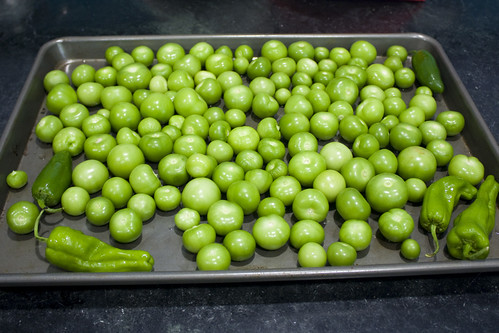 Tomatillos & peppers