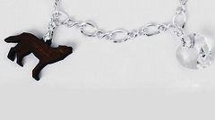 Sterling Silver Figure Eight Chain (smarteepantz) Tags: eclipse jacob edward charmbracelet crystalheart sterlingsilverbracelet bellasbracelet woodwolf