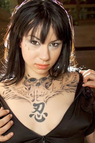 [フリー画像] 人物, 女性, 刺青・タトゥー, 201007241500