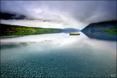 Idyllic (katepedley) Tags: new newzealand cloud mist lake mountains reflection rock fog stone forest canon nationalpark tripod platform pebbles zealand fieldtrip nz southisland 5d rps 1740mm beech pontoon nelsonlakes rotoiti polariser gndfilter nznative tasmannz starnaud