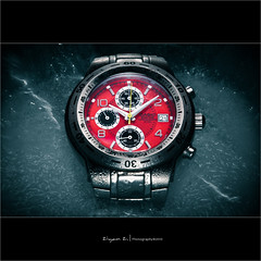 Ice & watch (Front Page) (Ziyan | Photography) Tags: blue red stilllife ice canon watch casio explore commercial 5d canon5d fp frontpage strobe   ziyan  kenkoextensiontubes explored  strobist