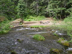 Creek to cross to get to other side of Tubal Cain trail.