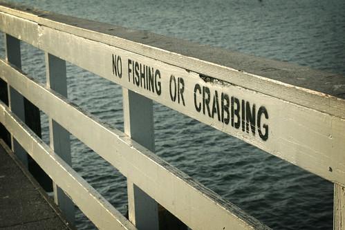 No crabbing!