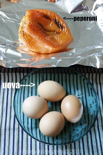 peperoni arrosto e uova