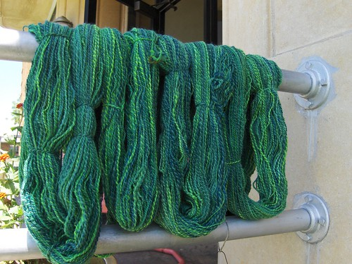 Tour de Fleece greenies, washed!