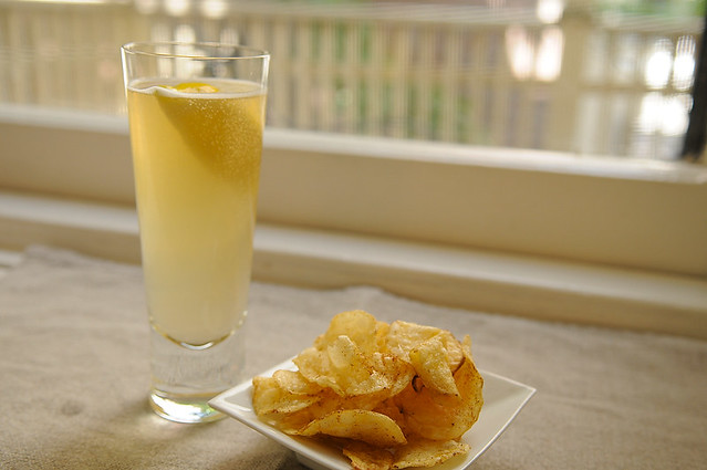 Radler and Spicy Chips