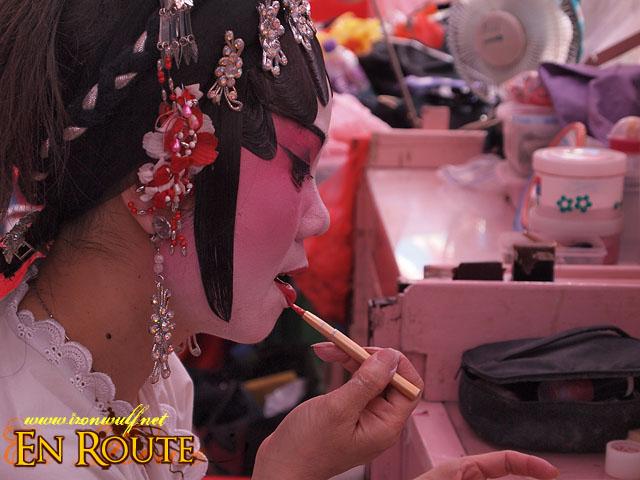 An Actress putting on Makeup