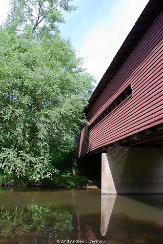 Sheeder-Hall Covered Bridge (Exterior Low View) 048