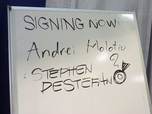 Andrei Molotiu & Stephen DeStefano signed in - Fantagraphics at Comic-Con 2010