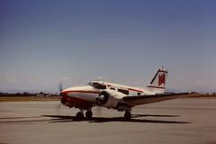 Beech E-18 (San Diego Air & Space Museum Archives) Tags: aviation valley airlines beech aeronautics e18 sdasm quastler copyrightbelongstoiequastler