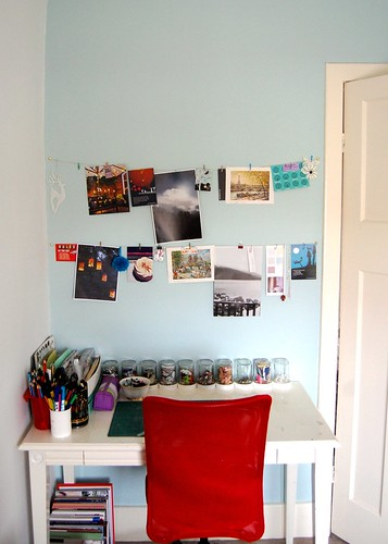 Desk & Inspiration Wall