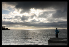 Calm before the storm? (Johan DeBoer) Tags: sky people storm water clouds vancouverisland