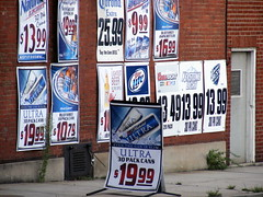 Beer for Sale... (Javcon117*) Tags: county signs building beer price discount md maryland advertisement worldwide alcohol posters photowalk third annual liquors beverages 3rd cumberland allegany 2010 coorslight greenestreet parkview millerlight coronaextra july24 keystonelight javcon117 frostphotos westernmarylandphotographersassociation