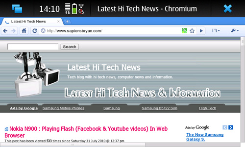 Google Chrome On Nokia N900