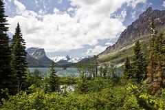 St. Mary Lake (lnmeares) Tags: mountain lake snow nationalpark montana glacier glaciernationalpark stmarylake