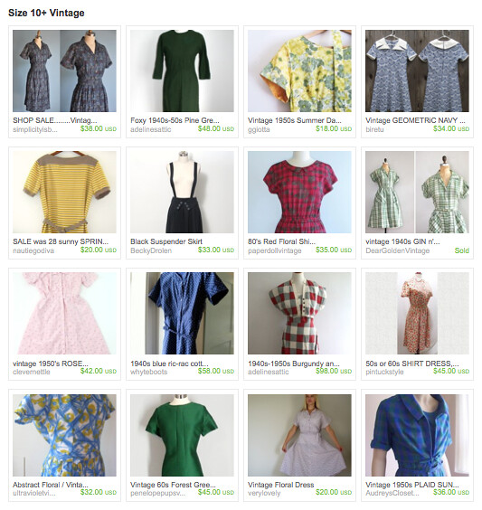 size 10+ etsy treasury