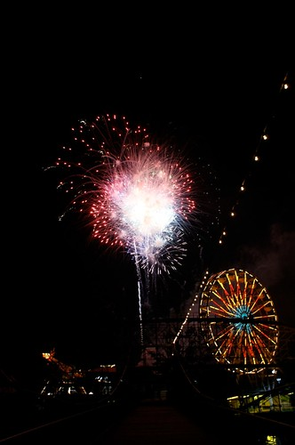 Ferris Wheel and Fireworks 1