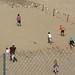 Kids exercising on the dune