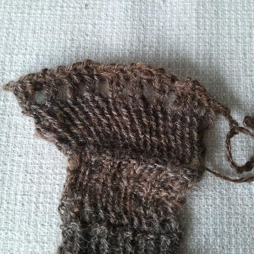 handspun #5 brown wensleydale