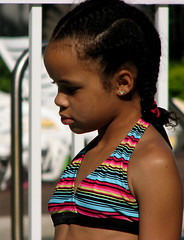 Pensive Lass (Gem Images) Tags: girl swimming us kid orlando florida kissimmee vacationvillage