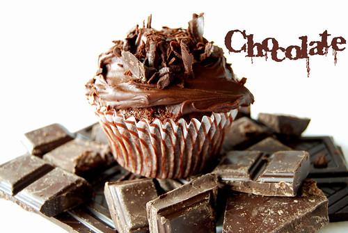 Cupcake choco con letras