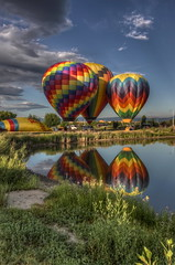 2010 Hot Air Balloon 078 (TVGuy) Tags: hot reflection water colorado air balloon b17 transportation denverco