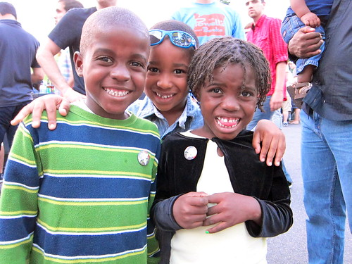 Part of the group of Haitian families placed in Philly for medical care by Partners in Health.