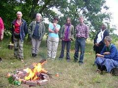 (London Permaculture) Tags: london garden fire community gardening flames campfire permaculture crouchend lammas meadoworchardproject