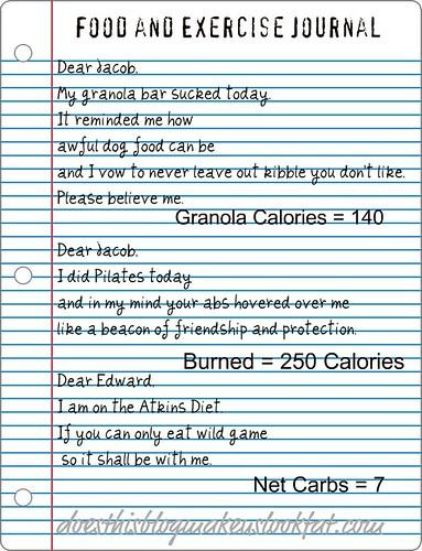 bella swan s diet journal does this blog make us look fat
