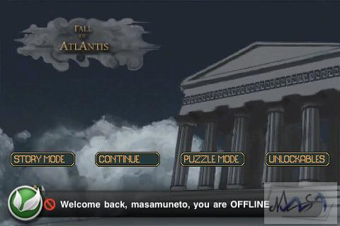 [Test] Fall Of Atlantis sur iPod Touch.