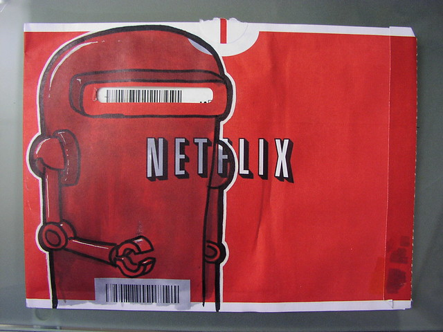 netflix envelope art - robot