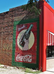 Grab a Coke (Lights in my hometown) Tags: old sign wall vintage mural downtown painted ghost iowa atlantic advertisement restored cocacola product smalltown businessdistrict casscounty