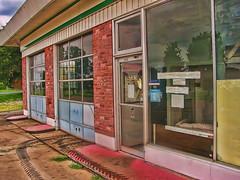 Rudy's Garage (Nicholas Ortloff Photography (Is Back)) Tags: old school abandoned minnesota photoshop condemned 2009 hdr topaz torndown eagan cs4 photoshopcs4 rudysgarage