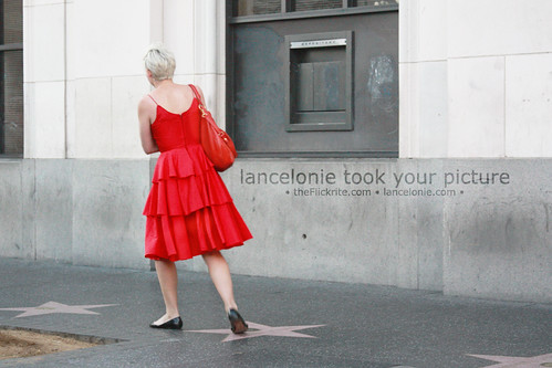 Hollywood Lady In Red
