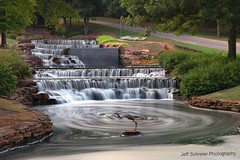 Hampton Cove Waterfall (gatorinsc) Tags: fall night waterfall big long huntsville cove alabama manmade hampton exsposure hamptoncovewaterfall