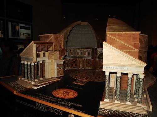 意大利馆的罗马万神殿剖面模型