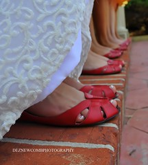 RED SHOES (Dez Newcomb Photography) Tags: wedding girls church boys beautiful groom bride ring redshoes holdhands