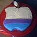 apple mac cake in the making
