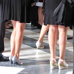 Legs at a wedding