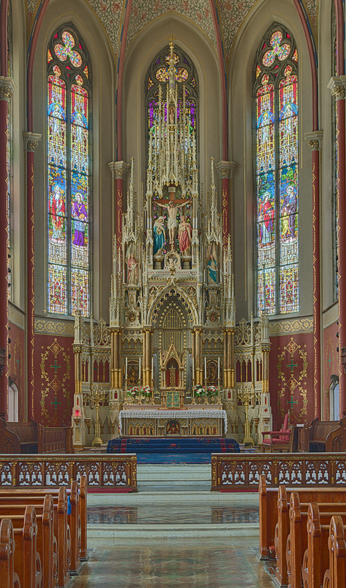 Saint Francis de Sales Oratory, in Saint Louis, Missouri, USA - high altar