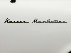 1955 Kaiser Manhattan script (Mark.Swanson) Tags: 1955 logo illinois antique manhattan autoshow mansion kaiser script bloomington daviddavis 1955kaiser