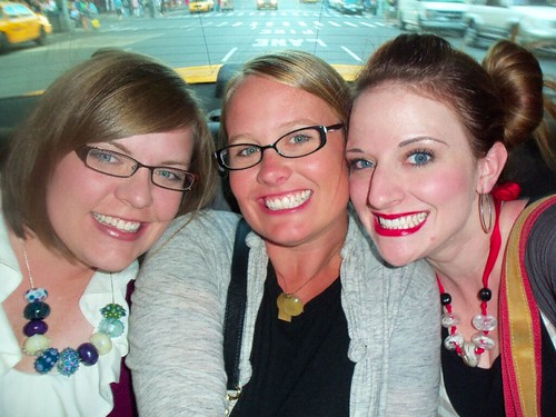 Kim, Emily and me in cab.