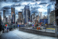 The Future is Rising  (slowly..) (Tony Shi Photos) Tags: world plaza new york city nyc urban ny century liberty photo memorial 21 greenwich 911 hilton ground center national wtc trade financial zero development hdr rebuild wfc nuevayork    nikond700   tonyshi