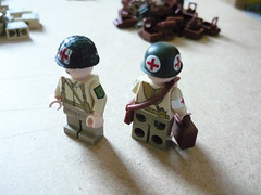 1st Div Medics 1 (Milan CMadge) Tags: world two usmc infantry work army us war lego legs 1st wwii progress wip ww2 division custom satchel decals raiders torsos brasso carlsons medics brickarms