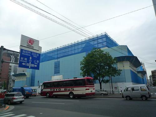 歌舞伎座2010/08/09 解体中