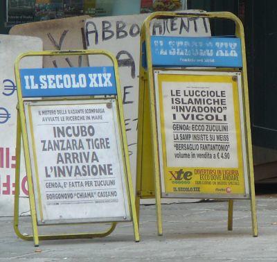 lucciole islamiche e zanzare tigre a Genova