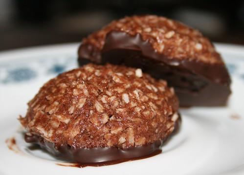 double-chocolate macaroons