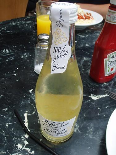 Organic Elderflower Drink at the Gallery Cafe in London