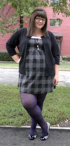 grey plaid, grey day