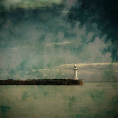The Approaching Storm ( Deena Walshe ) Tags: sea lighthouse painterly texture clouds kent dover